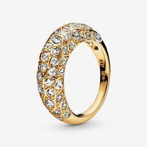 😋Pandora  Sparkling Pattern Ring